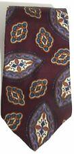 NEW Mens PIETRO DI ROMA 100% Silk Burgundy Blue Teal Orange Abstract Necktie Tie