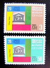 CEYLON 396-97 UNESCO MNH OG (SEE DESCRIPTION)