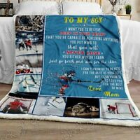 To My Son, Hockey Sofa Fleece Blanket 50-80 Made In US