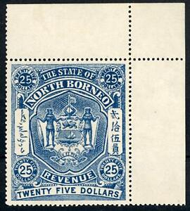 North Borneo early $25 Dollar Revenue Stamp MNH, LOOK!
