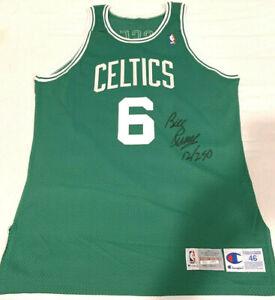 Bill Russell Autographed LE 12/250 1992 Champion Pro-cut 46+3 Celtics Jersey COA