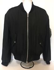 Skingraft RARE Men's 100% Silk Bomber jacket  size L - one of a kind Quilted
