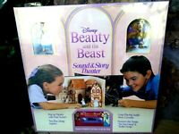 DISNEY BEAUTY AND THE BEAST SOUND AND STORY THEATER, w/FIGURES,NEW UNOPENED,MINT