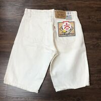 NWT Vintage 90's Levis 550 Relaxed Fit Shorts Men's 31 Cream Off White Denim