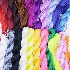 1.5mm Nylon Cord Thread Chinese Knot Macrame Rattail Bracelet Braided String