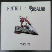 PINTRILL x NBALAB Chicago Bulls Mascot Pin *RARE* Basketball Pin 🏀