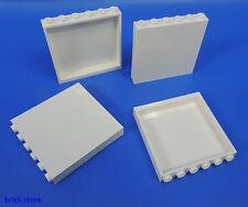 LEGO®  Nr- 4504229 / 1x6x5 Panele weiß / Fenster / Wand / Säule / 4 Stück