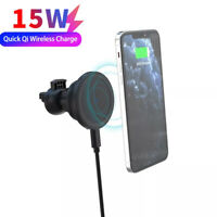 15W Fast Qi Wireless Car Charger Magnetic Phone Holder For iPhone 12 Pro Max