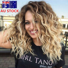 Long Full Wavy Front Lace Wig Afro Kinky Curly Hair Wigs Women Hairstyle Party