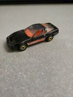 Vintage 1982 Hot Wheels 80's Corvette - Black with Opening Hood Malaysia