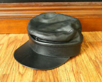 Vintage Wilsons Leather Hat Cadet Style Size S/M Pelle Studio Black