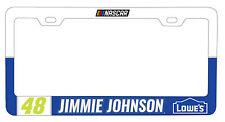 NASCAR #48 JIMMIE JOHNSON LICENSE PLATE FRAME-NASCAR Tag Frame
