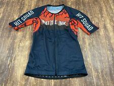 "Wattie Ink ""Hit Squad"" Women's Full Zip Down Triathlon Jersey - Extra Small - XS"