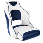 Leader Accessories Two Tone Captain's Bucket Seat White/Blue,Blue Piping
