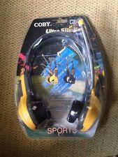 COBY CX-22 RADIO AM/FM SPORTS EN FORMA DE CASCOS - GRIS/AMARILLO Retro