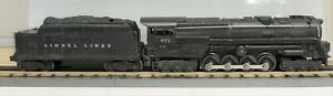 LIONEL O GAUGE #671  6-8-6 STEAM ENGINE W/ 671W-50 TENDER 1947