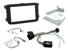 CTKVW17 VW Tiguan 15 on Double Din Stereo Facia Fitting Kit Stalk Aerial