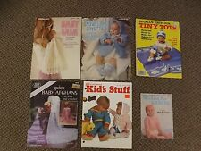 Estate Lot of 6 Crochet & Knitting Patterns Books Baby Infants Clothing Layette