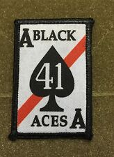 VFA-41 Black Aces FA18 Hornet Morale Patch Tactical Military Army Badge Hook