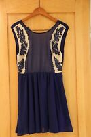 URBAN OUTFITTERS, Pins & Needles Boho Blue Dress, Size 8