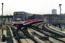 PHOTO  1987 DELTA JUNCTION AT WEST INDIA QUAY DLR WHEN THE DOCKLANDS LIGHT RAILW