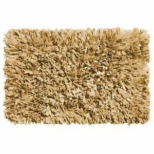 Carnation Home Paper Shag Cotton / Poly Blend Bath Mat Dark Linen