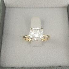 2.50 Ct Round Diamond Bridal Wedding Ring 14K Real Yellow Gold Rings Size K L N
