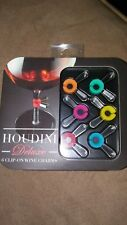 Houdini 6 Clip On Wine Charms--NIB free ship