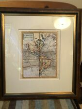 """EXTREMELY RARE. H. Moll """"America"""" - California As An Island 1700's Antique Map"""