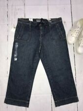 Old Navy Just Below Waist Denim Capris Womens Cotton Jeans Size 14 NWT