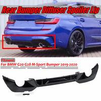 Rear Bumper Diffuser Body Kit Lip Glossy Black For BMW G20 G28 M-Sport 2019-2020