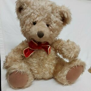 Russ Berrie Teddy Bear with Red Bow Tie. Sits 13 inches high. Preloved russ tedd
