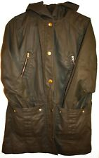 J. Crew Olive Green Hooded Field Coated Raincoat Rain Utility Jacket Size S