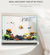 Aquarium thermometer Digital LCD electronic fish tank 3D Digital G3615 SILVER