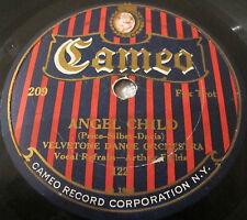 Cameo 209 78 RPM record Velvetone Dance Orchestra  Angel Child / Gin Ginny Shore