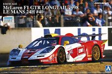 Aoshima 1/24 McLaren F1 Gtr Long Tail 1998 Le Mans 24 hours # 40 Model Kit