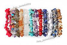 Wholesale jewelry 6ps Natural Semi-Precious stones mix fashion Elastic Bracelets