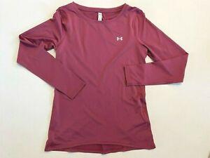 Under Armour New Heatgear Long Sleeve T-Shirt Women's Small 1328966