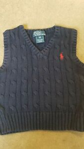 ralph lauren boys sleeveless jumper