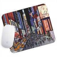 UK Seller Anti-Slip Gamimg Mouse Pad Mat PC Laptop  Colourful Times Square