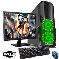 "FAST 3.70GHz Dual Core AMD 19"" Desktop Gaming PC Bundle 4GB 1TB WIFI p7"