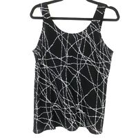Habitat Clothes To Live In Womens Top Size Small S Black White Sleeveless Tank