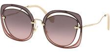 MIU MIU Scenique Evolution 54s Gold Pink Gradient Oversized Sunglasses Mu54ss