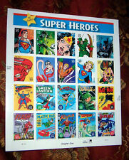 DC COMICS SUPER HEROS  UNITED STATES 39 CENT POSTAGE SHEET - COLLECTORS EDITION!