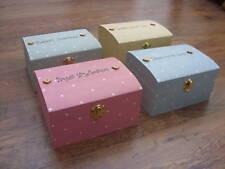 Shabby Painted Personalised Chic Jewellery trinket Box Memory Box Keepsake