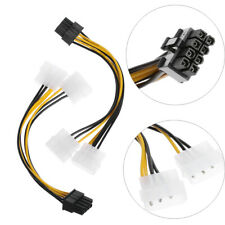 Graphics Converter Cable Mining Machine Molex 4 pin to 8-Pin PCI-E Riser Card