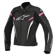 Alpinestars Stella GP Plus R V2 Motorcycle Motorbike Leather Jacket - Black Pink