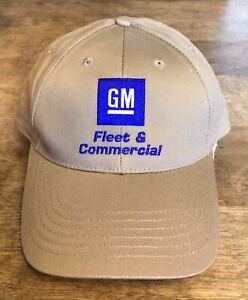 GM FLEET & COMMERCIAL EMBROIDERED KHAKI BASEBALL HAT AUTO VEHICLE MECHANICAL NEW