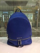 ❤️NWT Michael Kors Rhea Zip Large Backpack Elctric Blue Leather satchel tote bag