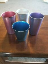 Bascal Italy 4 Colored Aluminum Tumbler Cups